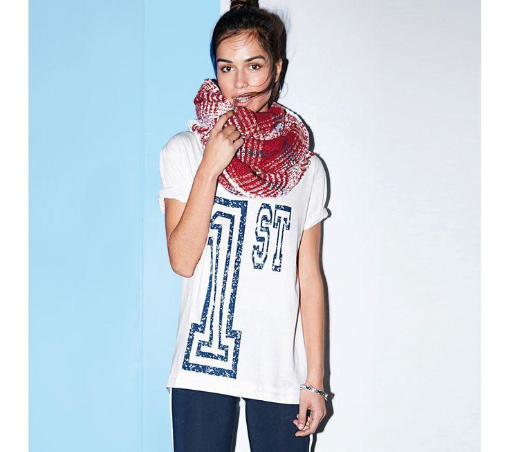 Tričko s okrúhlym výstrihom a krátkymi rukávmi | modino.sk  #modino_sk #modino_style #style #fashion #newseason #autumn #fall