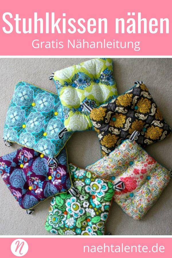 Stuhlkissen Selber Nahen Nahen Sewing Sewing Projects Und Diy