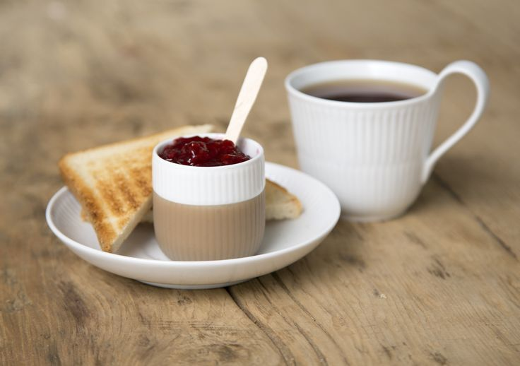 Use the Fluted Contrast Espresso cup for jam to your toast