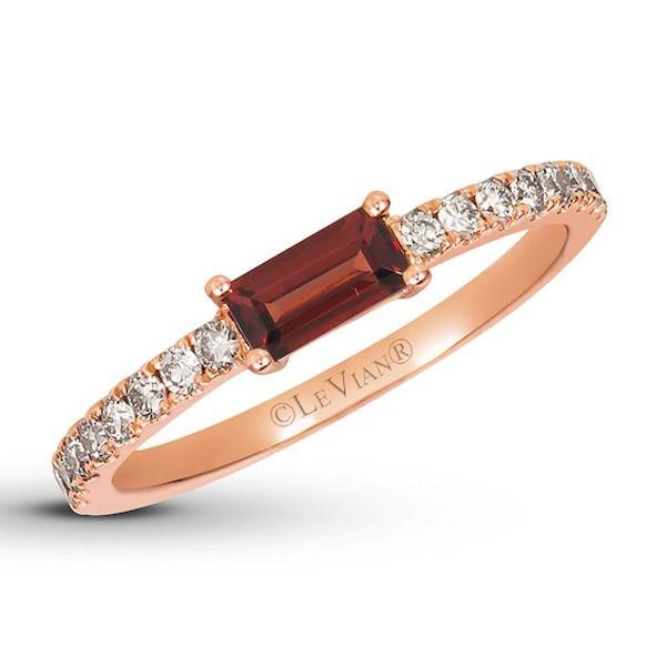 Le Vian Chocolate Diamond Ring 1/4 ct tw 14K Strawberry