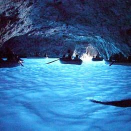 Grotta Azura in Capri. When staying in Sorrento visit Capri. Go to Anacapri and visit the Blue Grotto