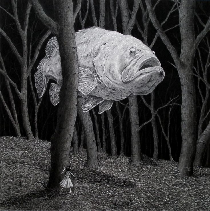 Ghost Fish illustration by Chris Odgers Comic Art