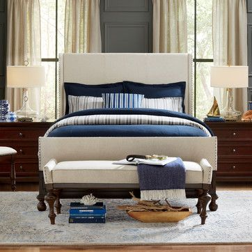 """Wanted you to see this.  King headboard between windows  Not that bad, you have 72"""" of wall between windows  Cal king bed is 72"""" wide but headboards are 76 to 78 inches wide  You might be able to do 2 queen headboard to fit the wall with about 2"""" of wall on each side"""