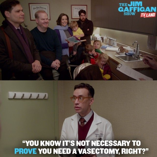 Nothing like getting vasectomy advice from Fred Armisen. Click to watch Fred, Adam Goldberg, Michael Ian Black, Ashley Williams and Jim Gaffigan in THE JIM GAFFIGAN SHOW.