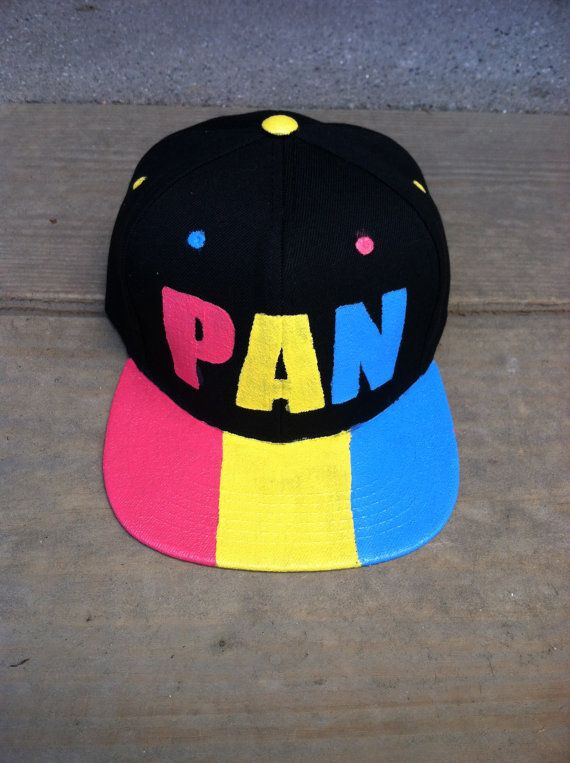 This simple snapback is a great way to show your pride as part of an everyday look or for a pride event!  Each hat is hand painted using fabric