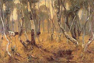 Hans HEYSEN | Mystic morn #tree #landscape #art