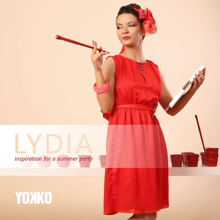 RED inspiration for parties! SUMMER 17   YOKKO #red #dress #women #fashion #summer17 #party #style #beauty #yokko