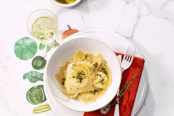Ravioli mit Ricotta-Zitronen-Füllung in Thymianbutter - Annemarie Wildeisen's KOCHEN