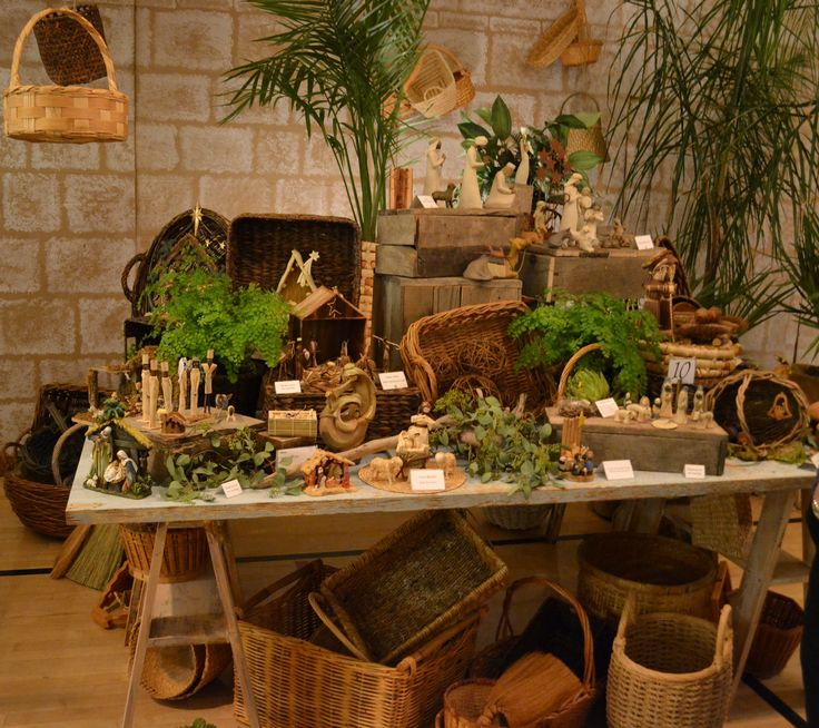 Living Nativity Ideas: The Basket Merchant Display Table At The Simi Valley