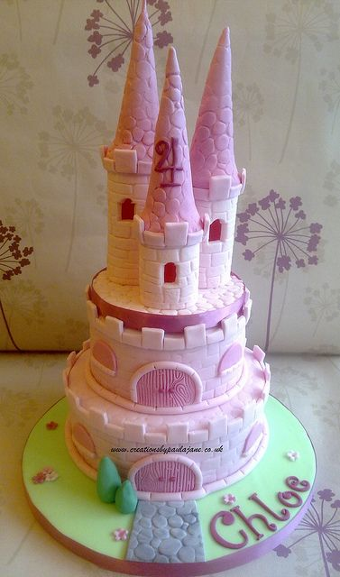 Princess Castle Cake by Creations By Paula Jane, via Flickr