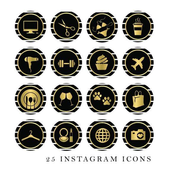 Black Metallic Glitter Gold Instant Download Instagram Story Templates