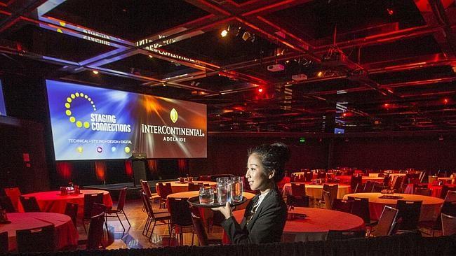 Kelsey O'Riley, banquets supervisor at the InterContinental Adelaide ballroom - first digital ballroom in South Australia