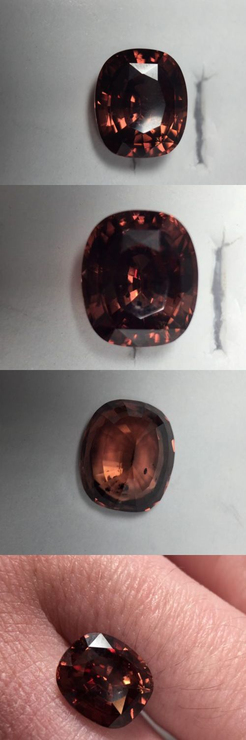 Zircon 10286: 4.19Ct Natural Cushion Cut Red Zircon -> BUY IT NOW ONLY: $89 on eBay!