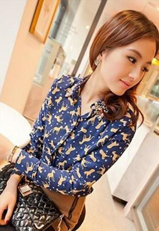 Classic Shirt With Embellished Collar (White)