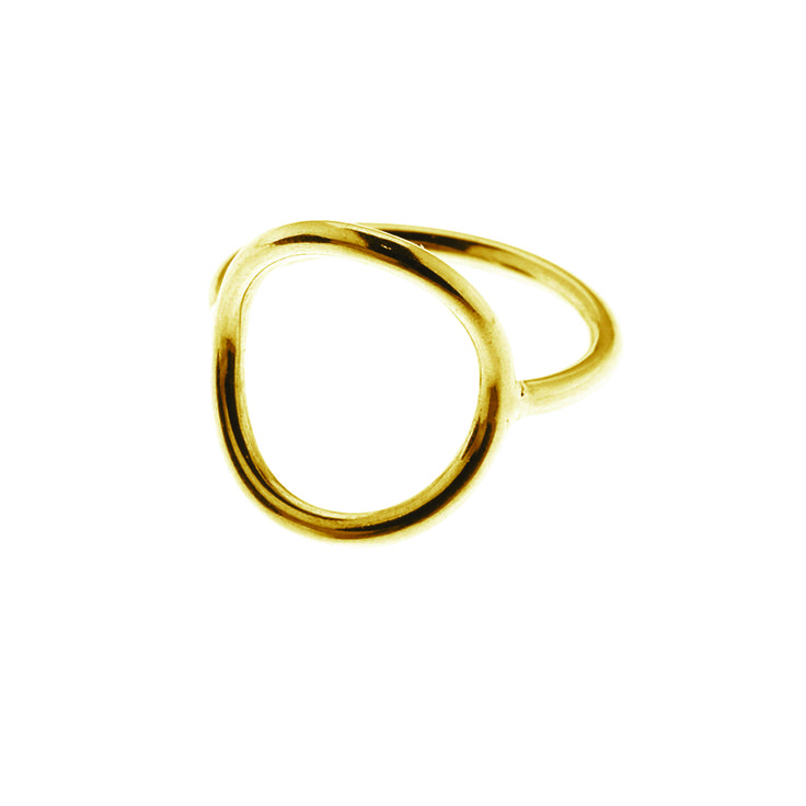 Gold plated sterling silver circle ring (Size 52-60) from By Malene Meden at Svane & Lührs. Worldwide shipping € 5: www.svane-luhrs.com.