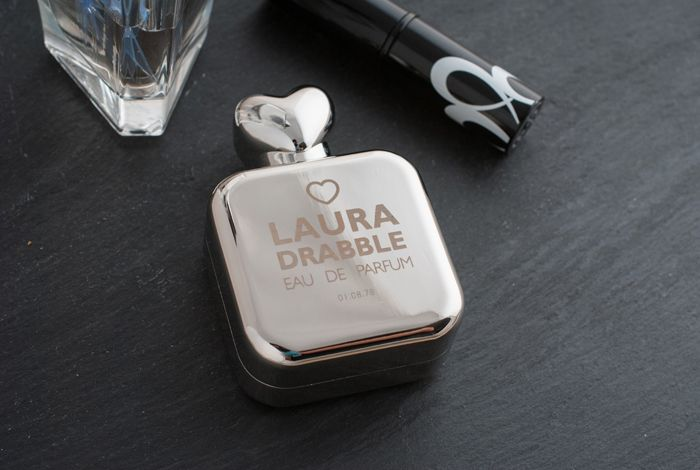 Personalised Perfume Atomiser with Heart Lid