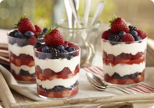 Driscoll's Tiramisu Mixed Berry Trifle. www.driscolls.comMixed Berries Trifles, Berries Recipe, Sweets Recipe, Summer Berries, Trifles Recipe, 4Th Of July, Desserts Delicious, Tiramisu Summer, Tiramisu Mixed