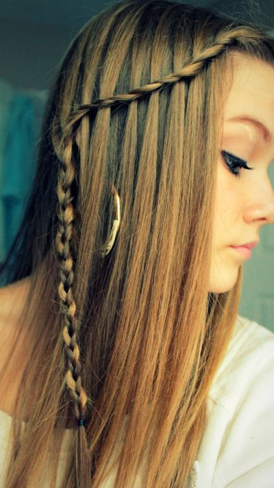 Trenza Pelo Liso Straight Hair Braid Trenzas Pinterest Hair
