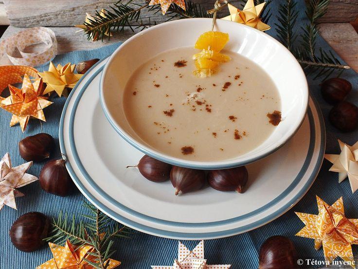 Tavaly karácsonykor ez volt az ünnepi levesünk, azóta is szeretettel gondolunk rá. Szerintem a napokban újra elkövetem, csak kapjak szép gesztenyét...