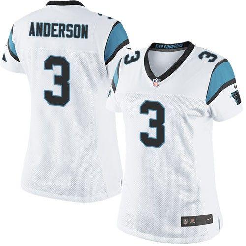 $24.99 Nike Limited Derek Anderson White Women's Jersey - Carolina Panthers #3 NFL Road