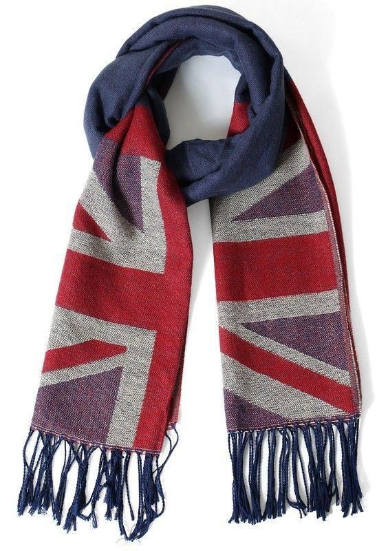 Union Jack Pattern Scarf (this is so cute but btw im not from the U.K. and I hate 1direction and Justin bieber so yeah:-))