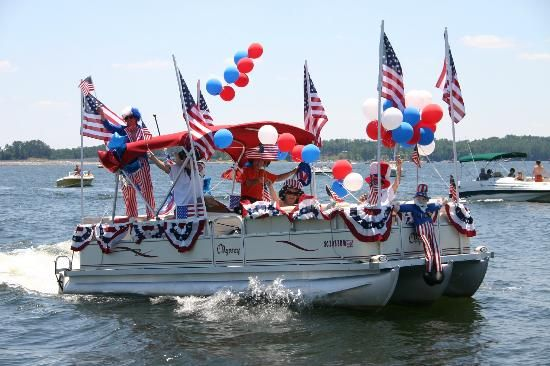 pontoon party decorations for 4th