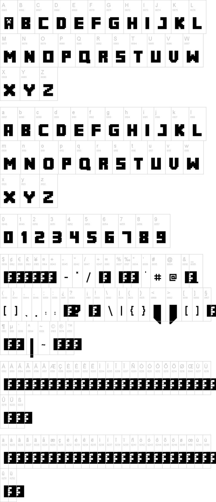 MineCrafter font to go with the Minecrafter party pins  http://www.dafont.com/minecrafter.font