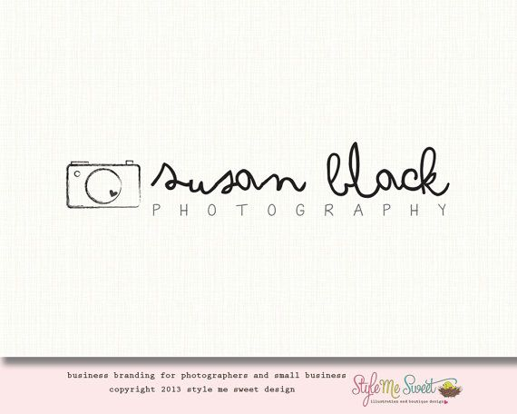 Premade Camera Logo Photography Logo Small por stylemesweetdesign