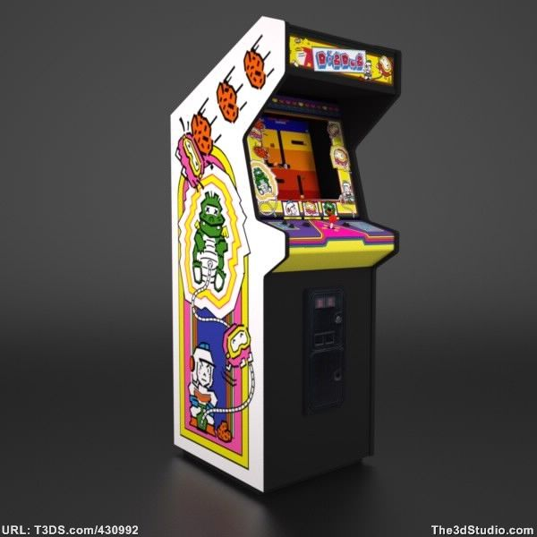 dig dug arcade cabinet - 28 images - the quartersdig dug the ...