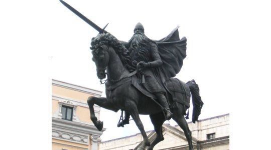 """The Great Champion of Christian Spain  By Harry Stevens  """"This is the will of God and of all His saints…You see the sword bloody and the horse sweating: Thus it is that one (El CID) conquers the Moors in the field."""" –Poema del Cid."""
