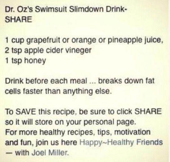 Slim Down Drink! Lose 10 Pounds In A Week