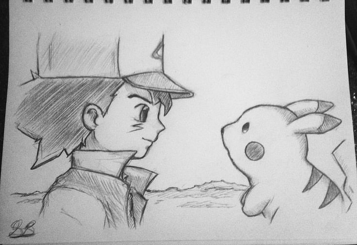 "7 Likes, 1 Comments - Simplicity (@shawn_brewington) on Instagram: ""•Satoshi / Ash Ketchum and Pikachu•⚡️ _ #pokemonart #ashketchum #pokemontcg #anime #animeart…"""