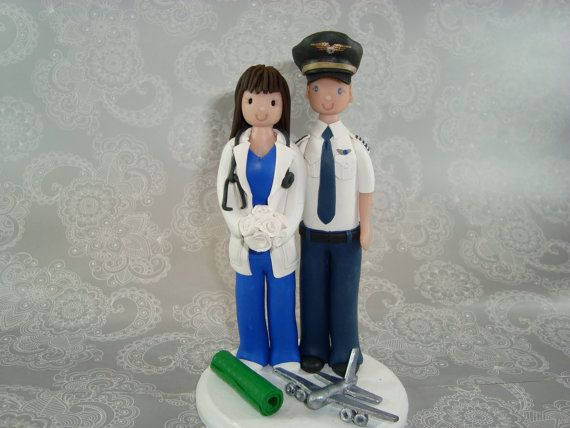 pilot flight attendant wedding cake toppers 30 best images about pilot co pilot wedding on 18522