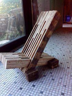 Muebles de palets: Silla de diseño hecha con tablas de palets