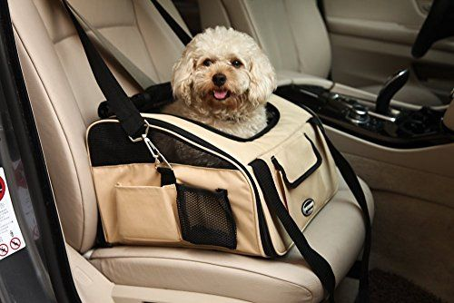 WOpet Pet Car Seat Carrier Airline Approved For Dog Cat Puppy Small Pets Travel Cage L Size Weight up to 15lbs Beige >>> You can get additional details at the image link.