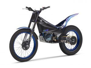 The 2018 Yamaha TY-E Electric Trail Bike which will compete in the 2018 FIM Trial E-Cup