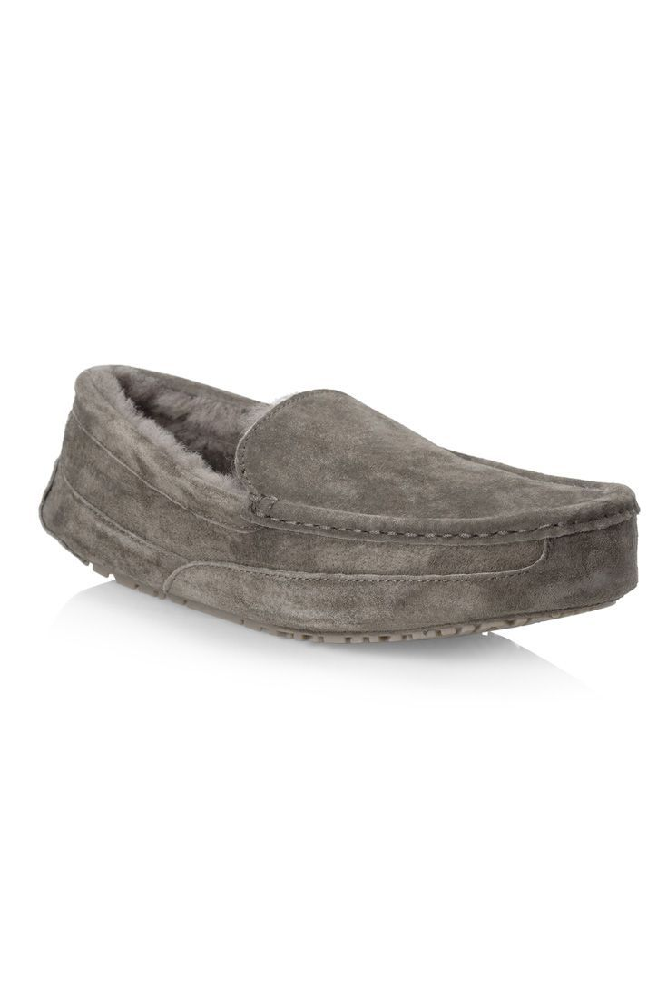#nuknuuksweeps: The Spencer Men's Slipper (Grey): Our mocassin provides the ultimate in comfort in luxury.