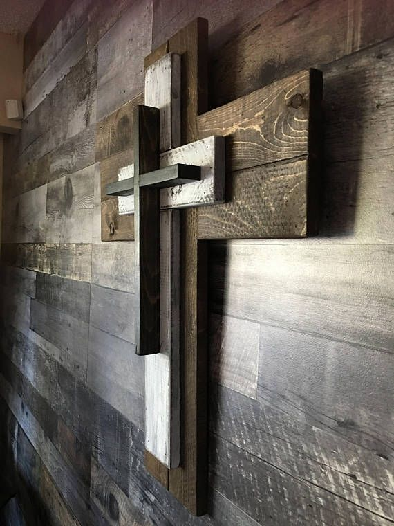 Rustic Wooden Cross Wall Decor