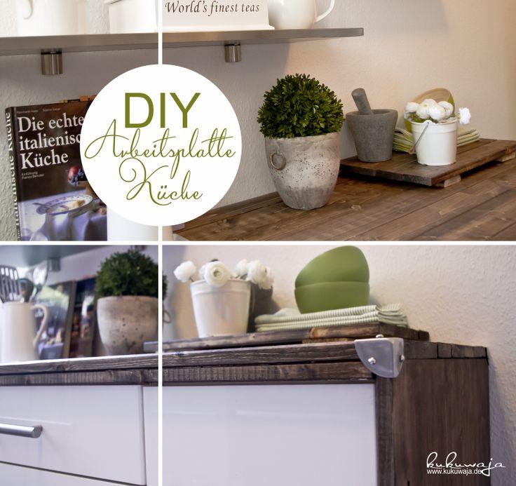 Nice DIY Working Space Kitchen DIY Arbeitsplatte Korpus K che http kukuwaja
