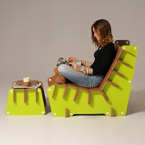 #Anita is a corrugated #cardboard armchair, perfect to furnish any type of…