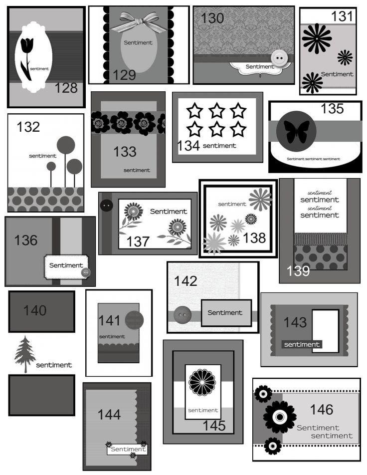 Superior Card Making Layouts Ideas Part - 11: Tons Of Card Sketches