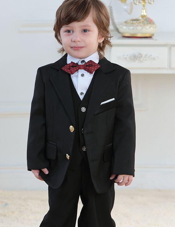 Kinderen Smoking / Vest Pak / Prestaties Kleding / Kleine Kostuums Set / Ring Aan Toonder Pakken