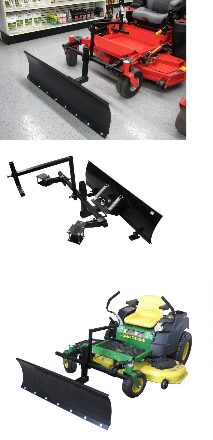 Other Outdoor Power Equipment 29520: Zero Turn Mower Snow Plow 4 Ft Wide Snow Blade -> BUY IT NOW ONLY: $545 on eBay!