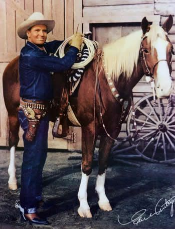 Gene Autry, was in movies and had his own TV show when I was a child. Autry also wrote numerous children's songs that are still popular today.