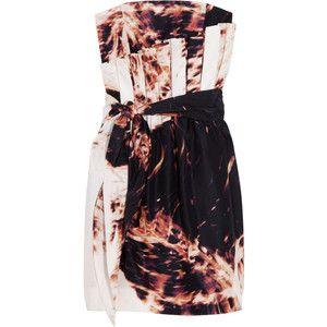 Sass & bide Afraid Of The Dark printed silk strapless dress