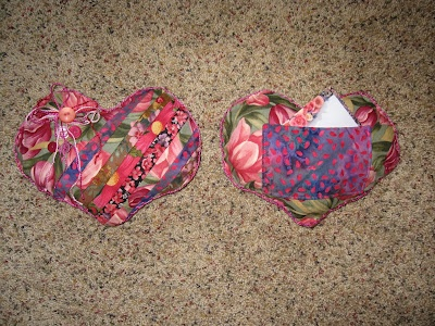 Heart Pillow w/ prayer note pocket for cancer patients.