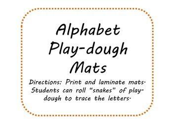 Literacty Center- Free Alphabet Play-Dough Mats