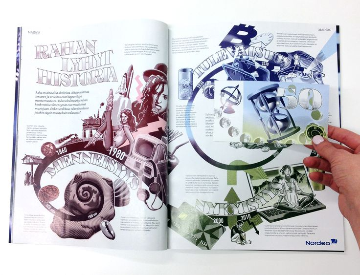 Illustration by Jussi Kaakinen for Nordea Bank's advertorial, published by Sanoma, 2015
