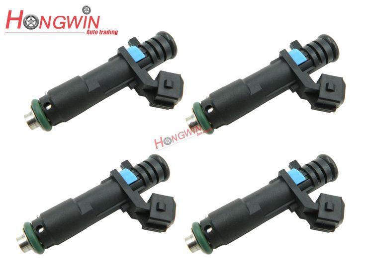 4Pcs Fuel Injector Fits Chevrolet Spark 2010-2012 AVEO (T250/T255) 1.0 1.2LPG 62KW 84CV 04/2008-2012> OEM NO.:25186566/96800843