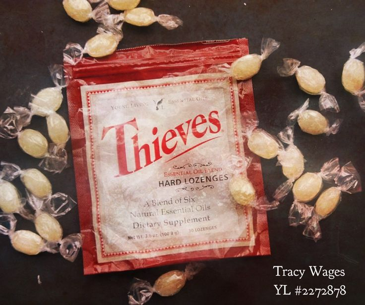 Thieves lozenges - love having these on hand to soothe irritated and dry throats!!  All the goodness of Thieves oil hanging out with a great taste?  Yes, please!